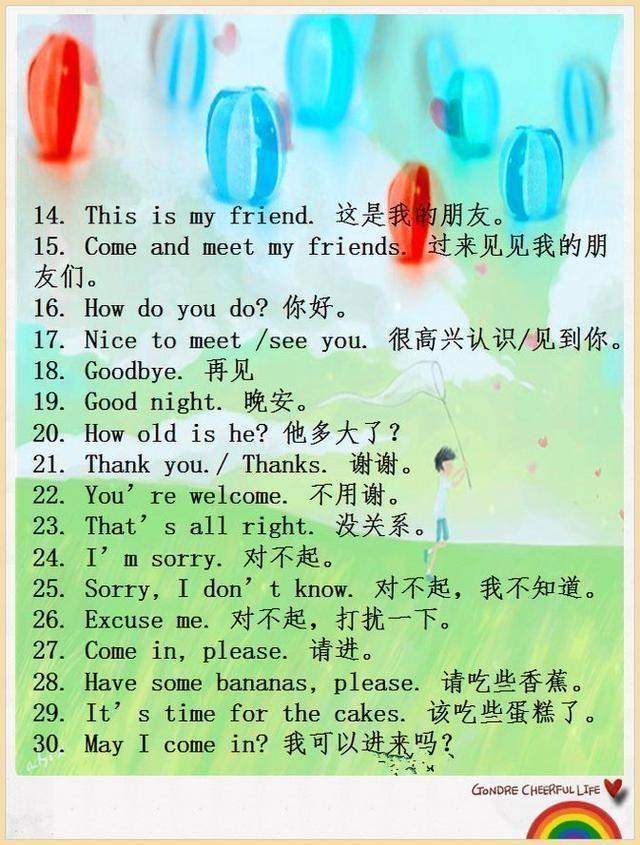 """最常用英语口语100句,每天练一练,孩子口语绝对""""溜""""到飞起!"""
