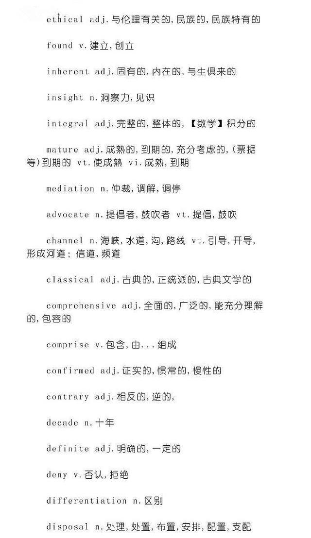 考研英语之完型填空核心词汇