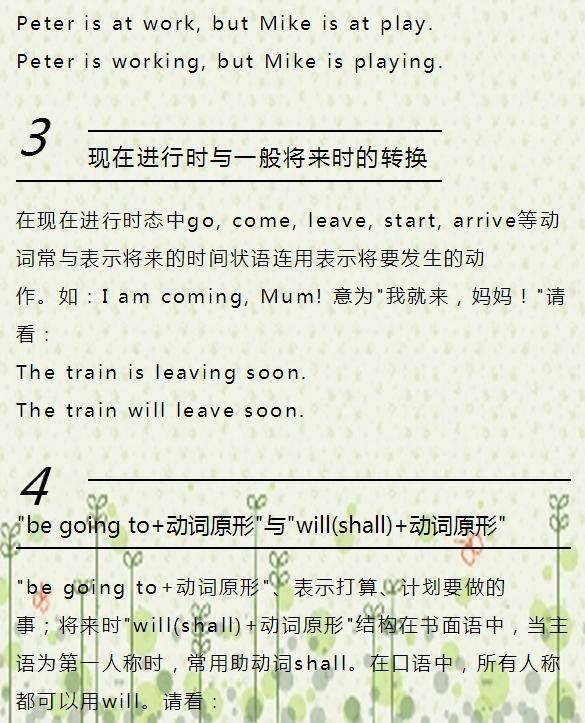 初中英语时态转换+8大时态归纳