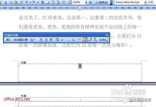 怎样删除电子文档中的页码?