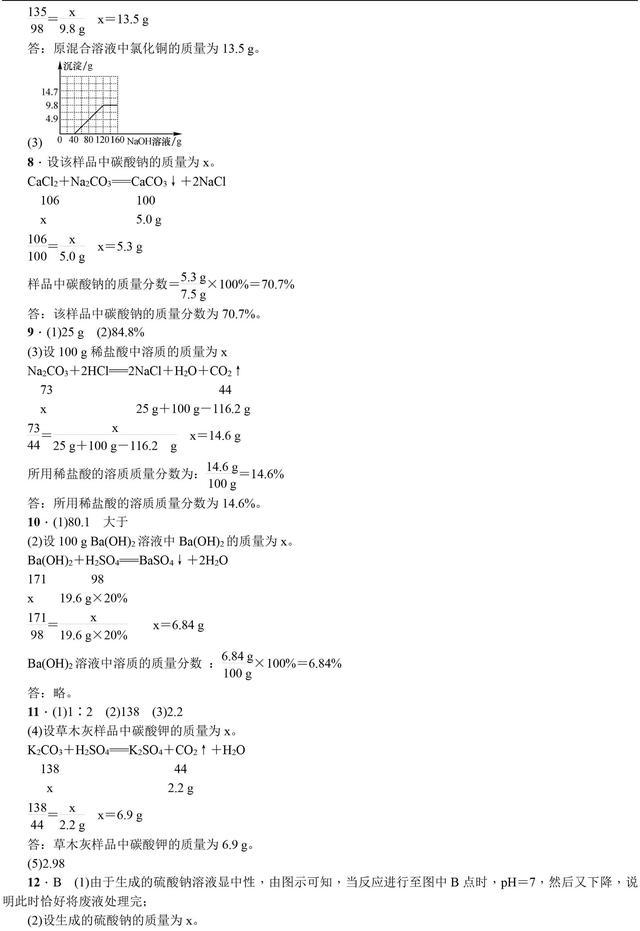 中考化学总复习化学计算专题讲解