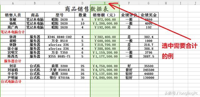 Excel中利用定位功能快速求和技巧!