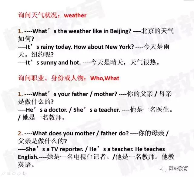小升初英语|特殊疑问句常用句型汇总