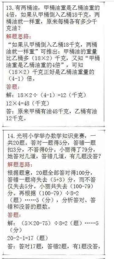 小学数学25道应用题(带解析)