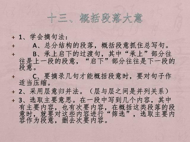 小学1-6年级语文知识总结