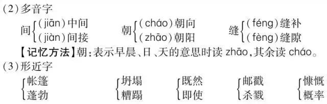 初一语文丨第4单元字词汇总+文言文梳理+考点链接