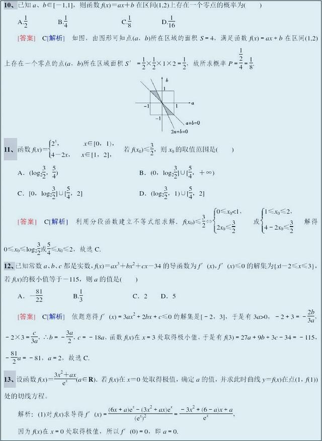 高考数学知识点解析