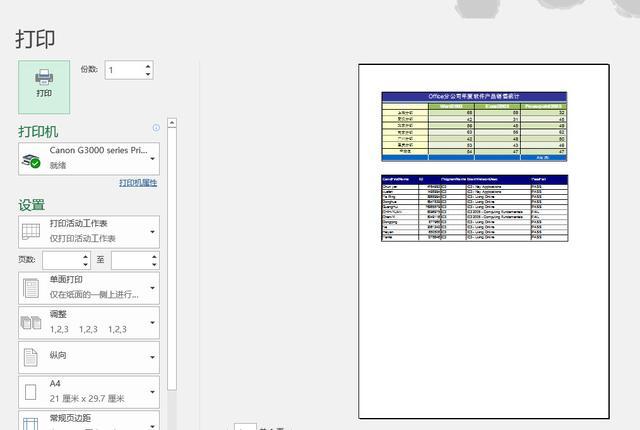 Excel技巧:如何将不同工作表的表格快速打印在一张A4纸上