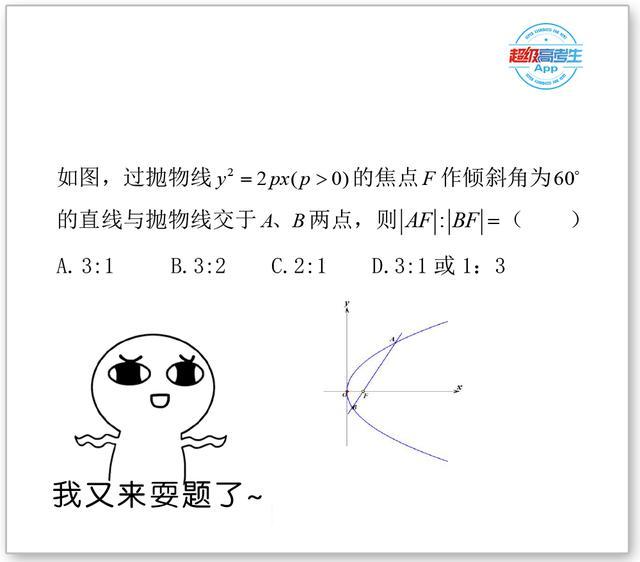 圆锥曲线题,草图一画就解出一半了