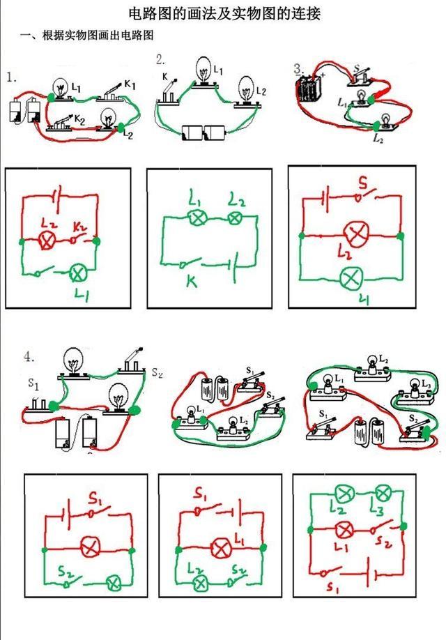物理电路图的画法及实物图的连接