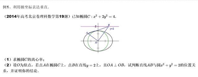 解析几何解题技巧之极坐标!
