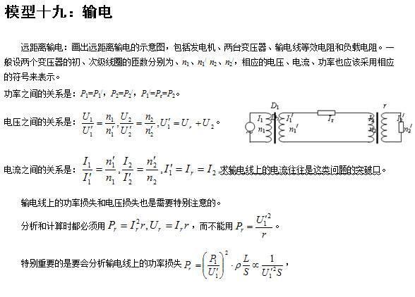 高中常考的24个经典物理模型全在这!