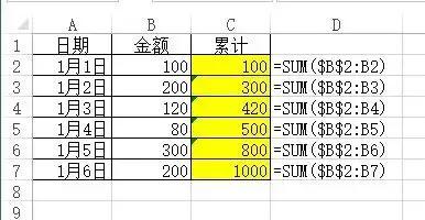 Excel每天自动统计库存现金科目的余额
