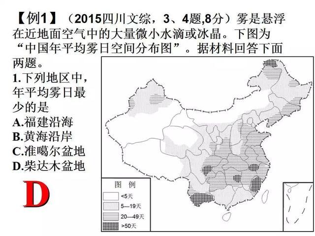 高三地理复习雾的分类成因和高考题专题