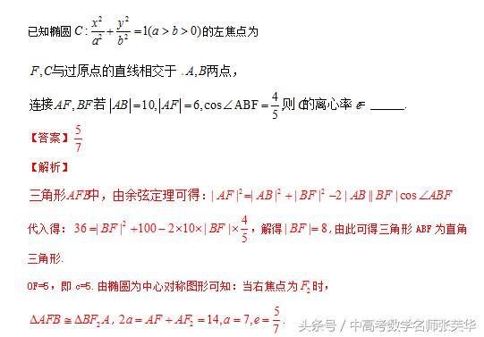 高考数学压轴突破140 攻克椭圆的一条规律两种方法三种技巧