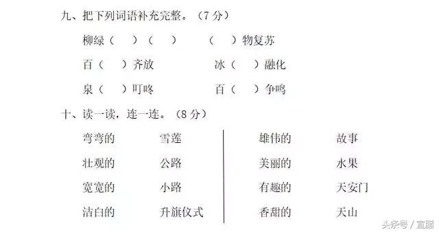 一年级实单元测试+看图写话+生字笔顺(下)