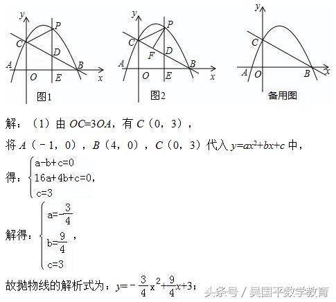 中考数学, 专题复习12:二次函数相关最值、动点问题