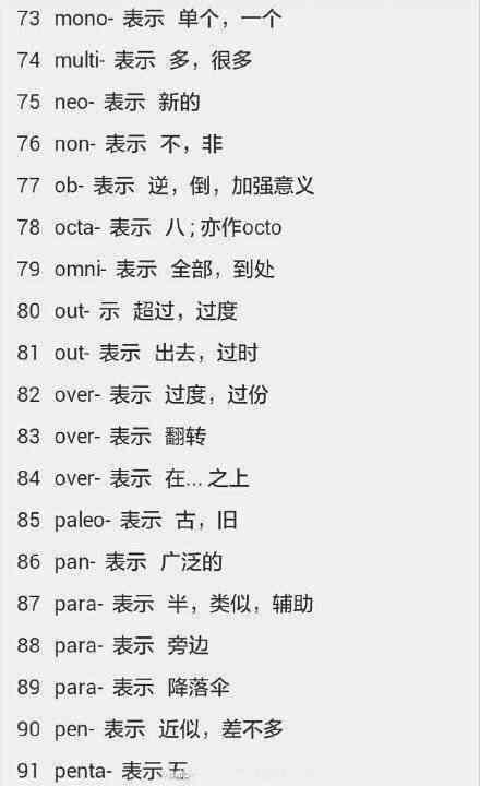 学会这138个前缀,让你轻松过四级