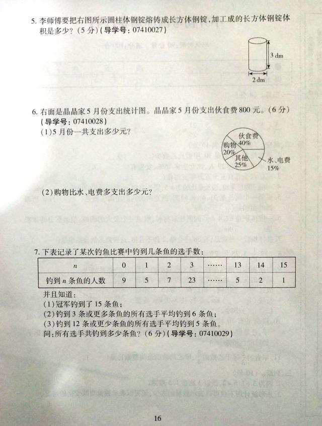 人教版小学 小升初 数学考前冲刺密卷