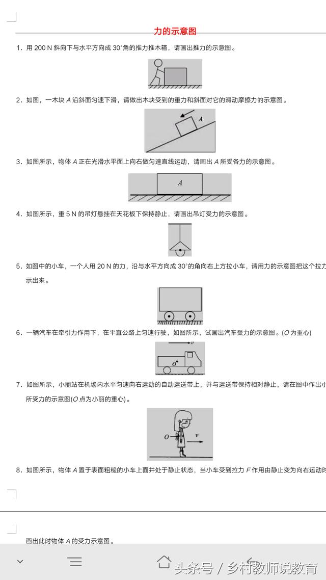 中考物理力学作图题练习