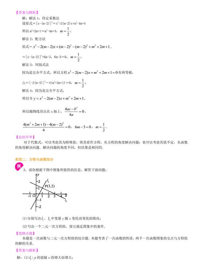 中考数学总复习冲刺:代数综合问题详细解析