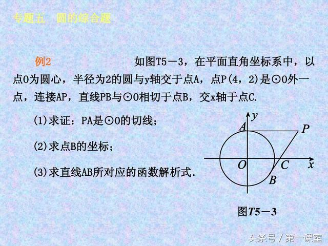 圆的综合题考查代数和几何的相关知识