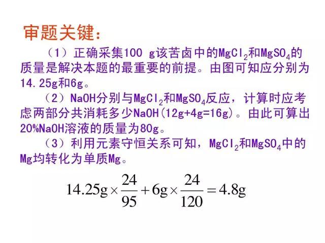 中考:化学压轴题出题形式+解法