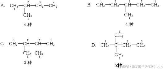 """高中化学有机化学——分析同分异构体的""""等效氢""""法"""
