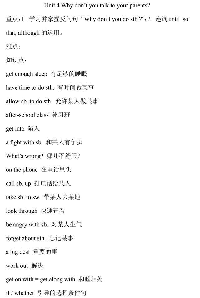 人教版八年级英语下册重点知识点总结
