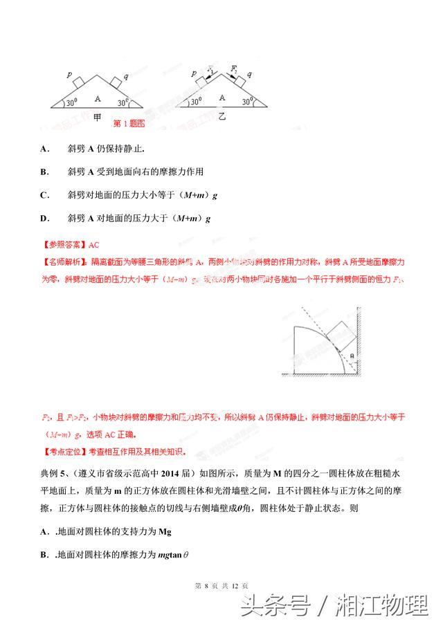 高中物理竞赛入门——第二讲 相互作用和物体平衡(高清)