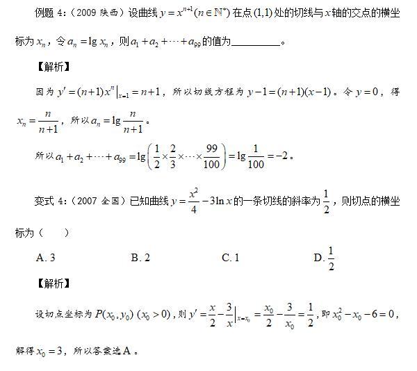 导数的几何意义——高考真题解读