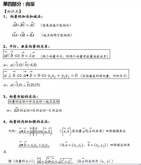 高考数学必考公式汇总