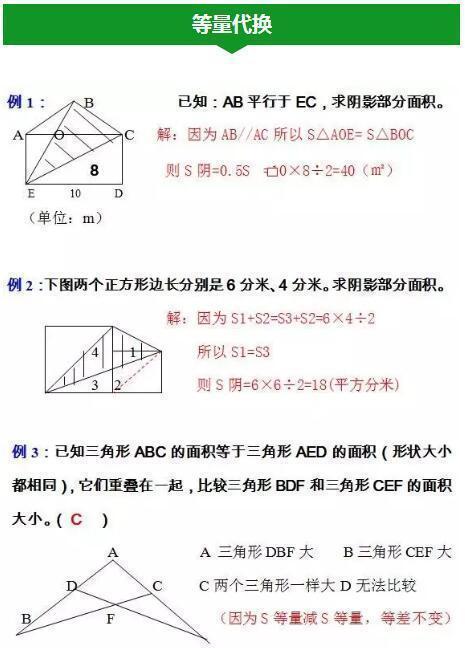 常考的几何图形解法整理