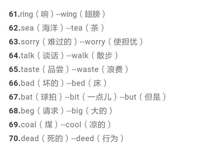 近五年中考英语常考的150个形似单词和34组易混词组