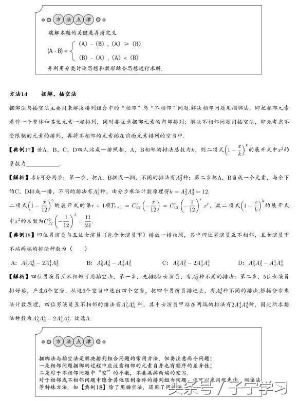 「高中数学」十五种数学核心解题方法的活用