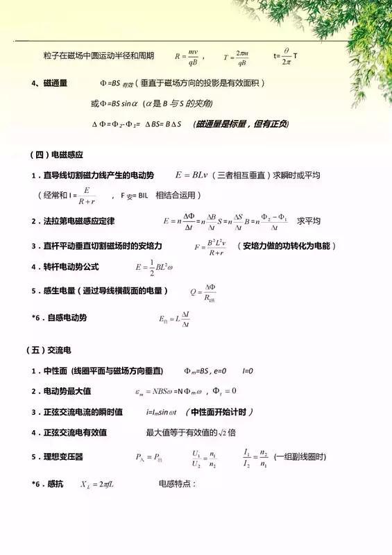 查漏补缺:最全高中物理公式及定理汇总