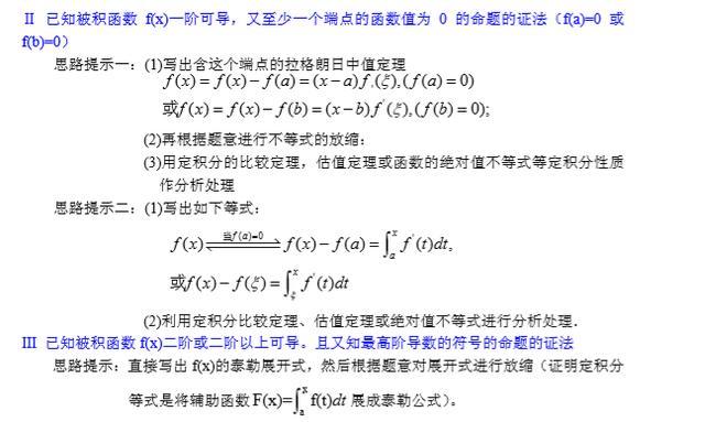考研数学——证明题常见题型及解法一览表