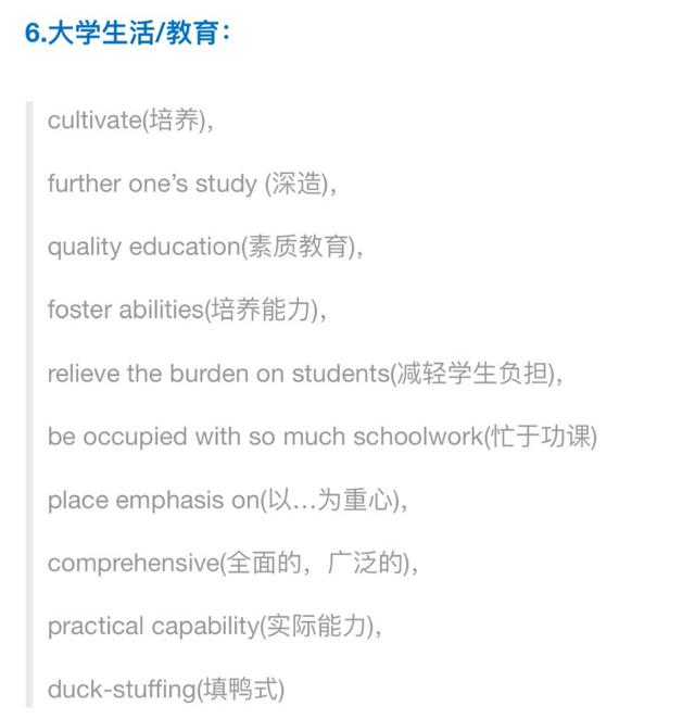 考研与四六级写作最实用的八类短语