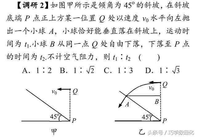 高考物理名师指导,运用两组直角三角形速解平抛运动相关问题
