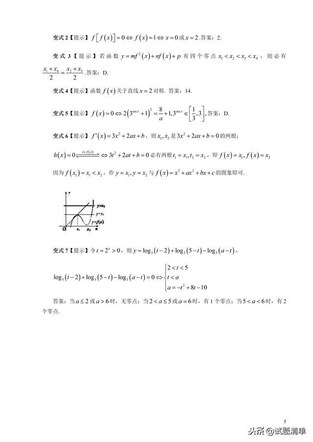 「高考数学」换元法破解复合函数方程的解,建议收藏!