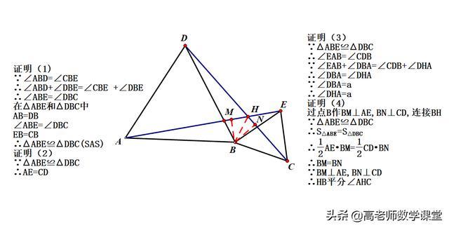 等腰三角形手拉手模型