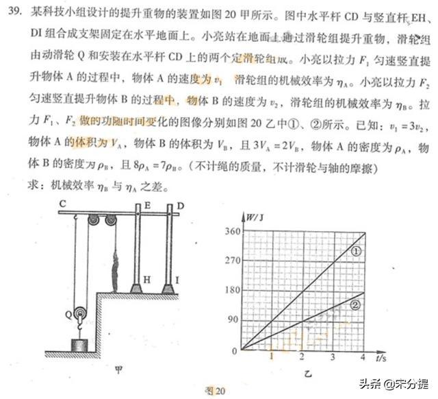 中考复习物理难题集锦