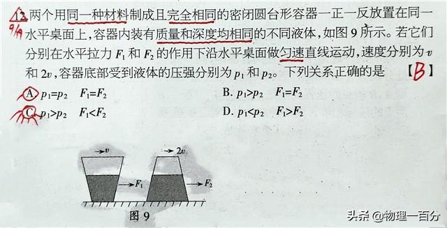 五道中考物理题突破力学第一大难点!让难题不再易错!