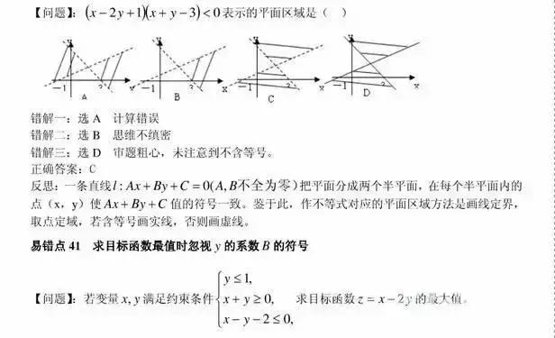 高中数学80个逢考必错的高频错题