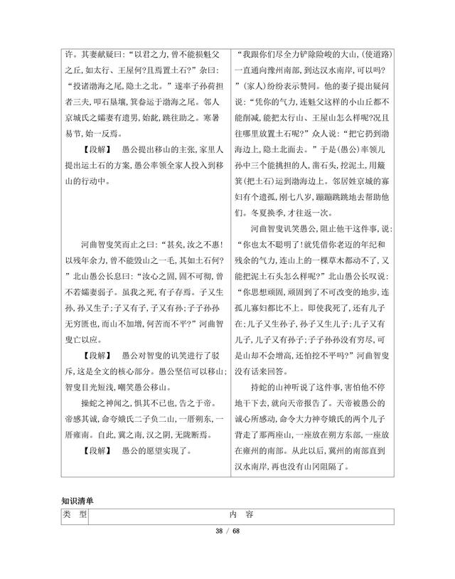 八年级上册语文课本知识全盘点