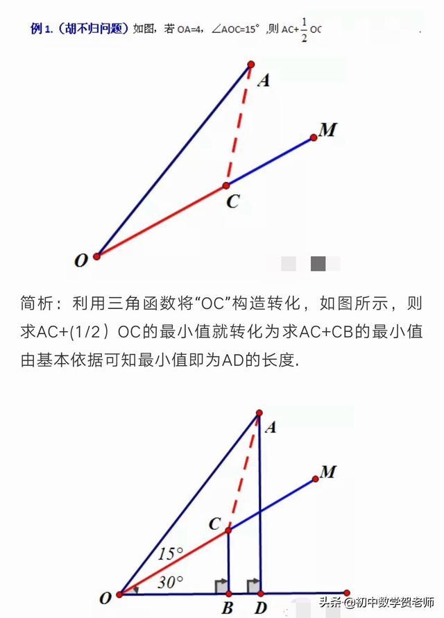 """两个动态图让你明白""""阿氏圆""""""""胡不归的区别""""!"""