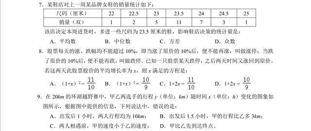 安徽省合肥市五十中学九年级中考数学质量调研检测二