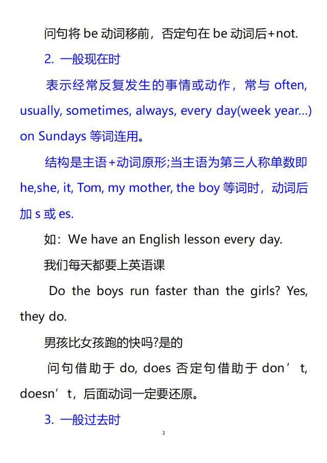 小升初:六年级英语知识点大全