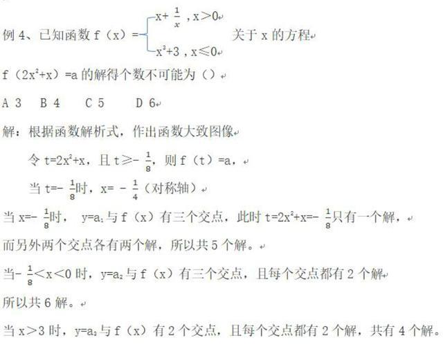 函数:第十三节,复合函数求零点,数形结合