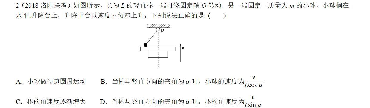 专题----- 绳端速度分解问题